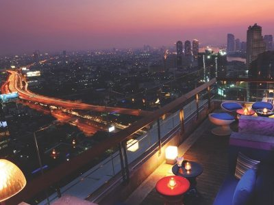 thailand bangkok mode sathorn hotel night view of bangkok